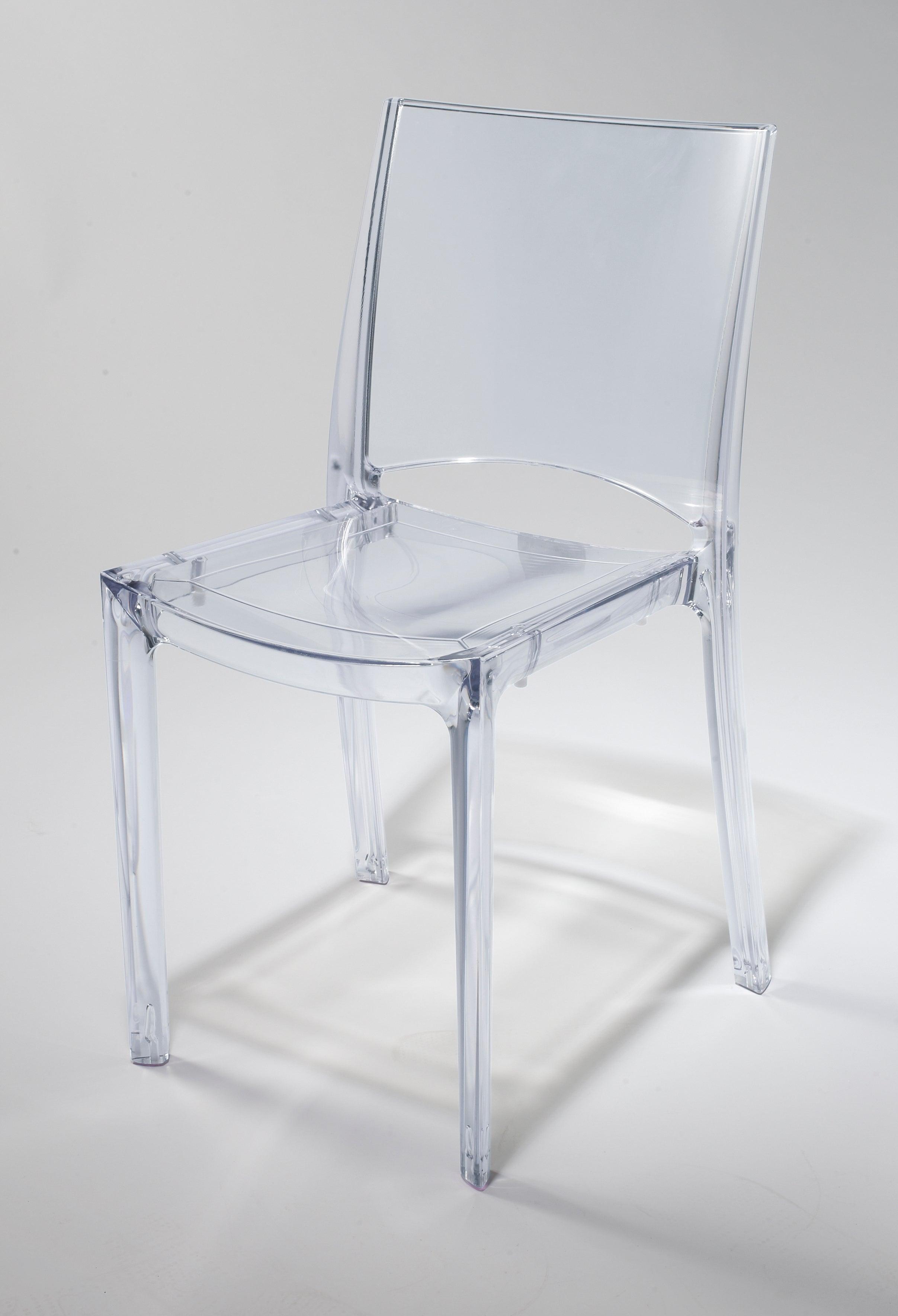 Chaise transparente Leroy Merlin, chaises design polycarbonate