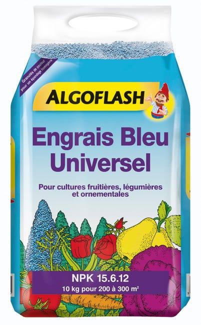 Engrais Bleu Universel Algoflash 10kg 300 M Leroy Merlin