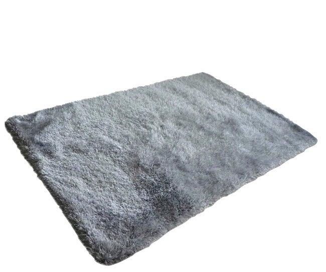 Tapis gris shaggy Love, l.160 x L.230 cm