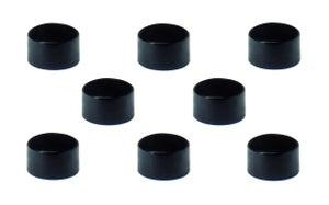 Lot de 8 aimants noir, Diam.9 mm