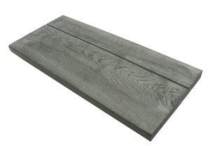 Margelle Alpège en pierre reconstituée gris, L.72 x l.32 x Ep.3.5 cm