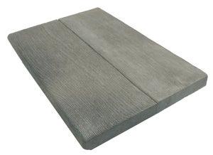 Margelle Alpège en pierre reconstituée gris, L.50 x l.35 x Ep.3.5 cm