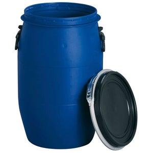 Image : Fût de macération aérien GARANTIA cylindrique bleu , 60 l