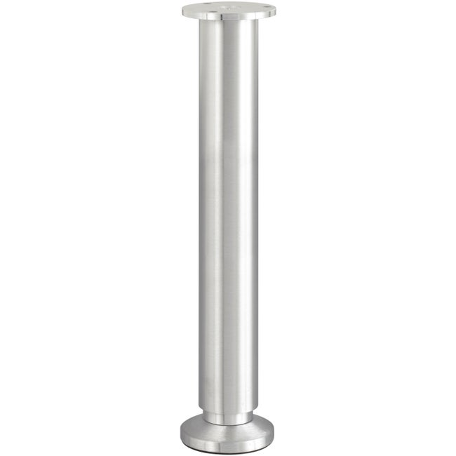 Pied De Lit Sommier Cylindrique Réglable Aluminium Brossé Gris De 30 à 32 Cm