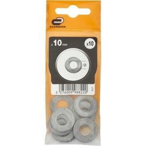 Lot de 10 rondelles acier zingué, Diam.10 mm STANDERS