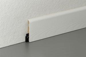 Plinthe parquet et sol stratifié décor blanc, L.220 cm x H.58 x Ep.14 mm