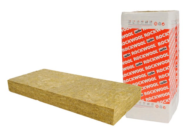 5 panneaux en laine de roche rockwool 135x06m ep120mm