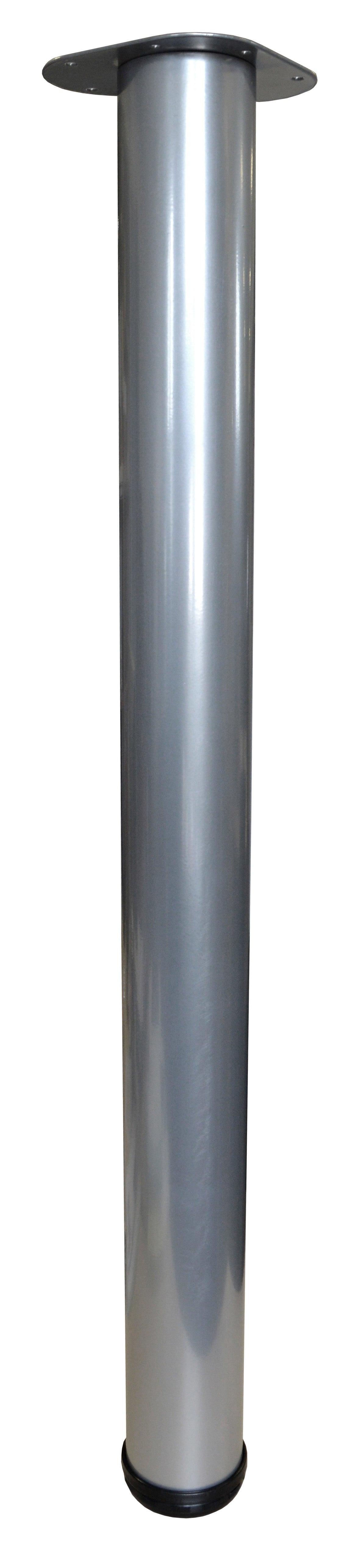 Pied Plan De Travail Cylindrique Reglable Acier Epoxy Gris De 87 A 89 Cm Leroy Merlin