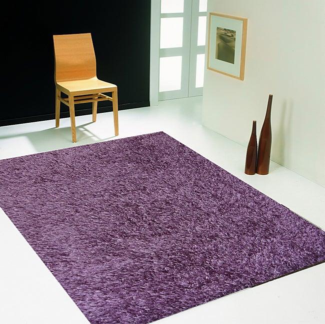 Tapis violet rectangulaire, l.60 x L.110 cm Lilou