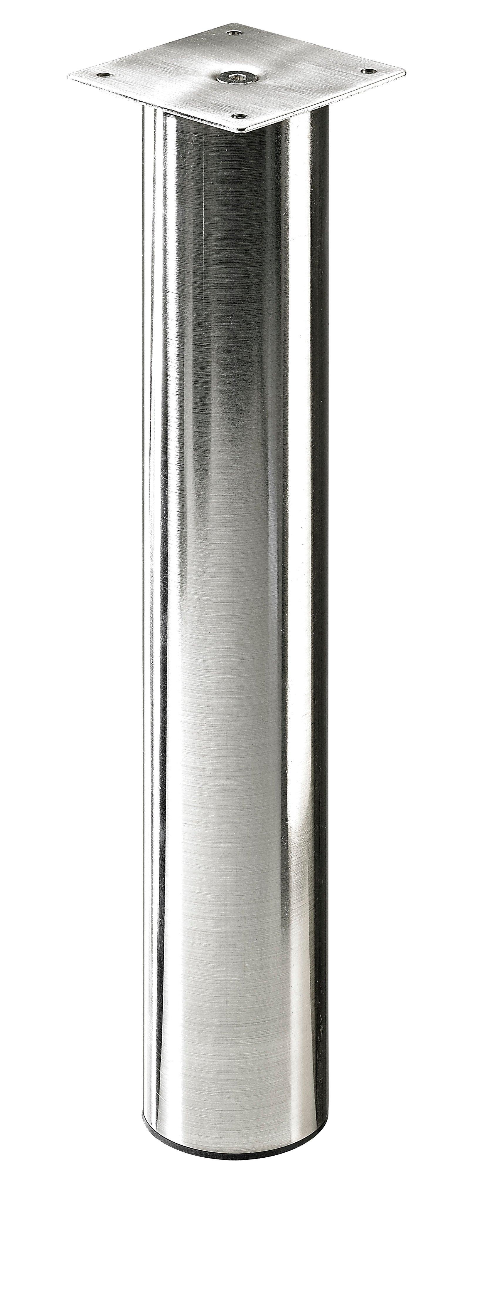 Pied De Plan De Travail Cylindrique Reglable Acier Brosse Gris De 40 A 70 Cm Leroy Merlin