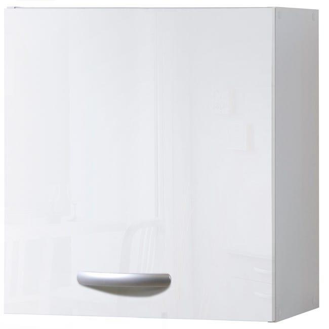Meuble De Cuisine Haut 1 Porte Blanc Brillant H57 9x L60x P35