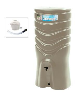 Image : Récupérateur d'eau et collecteur aérien EDA rectangulaire taupe , 350 l