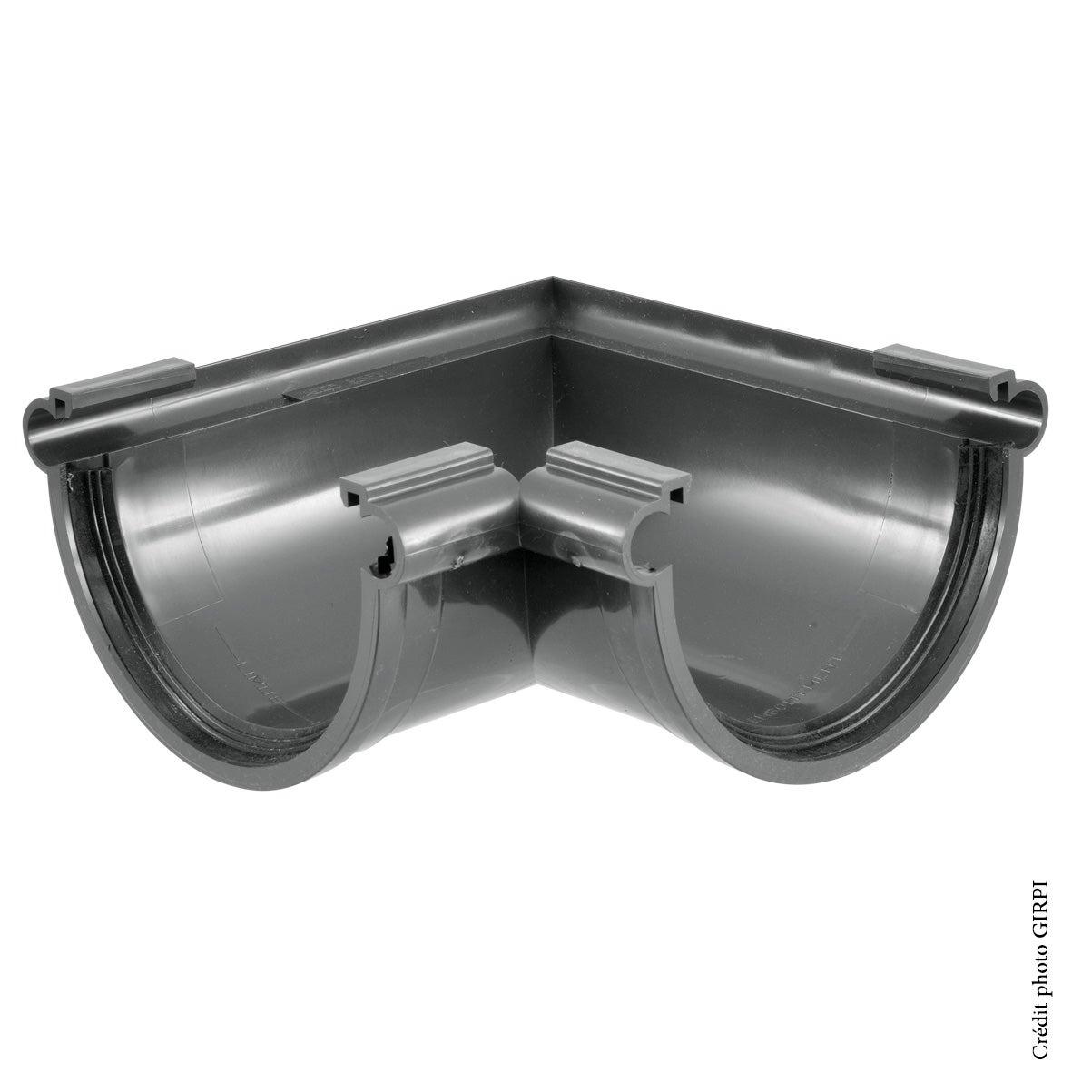 marron Angle universel 90/° PVC 25 demi-ronde Goutti/ère PVC 25 demi-ronde