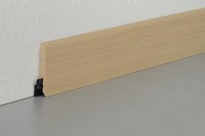 Plinthe parquet effet chêne naturel, L.220 cm x H.78 x Ep.14 mm