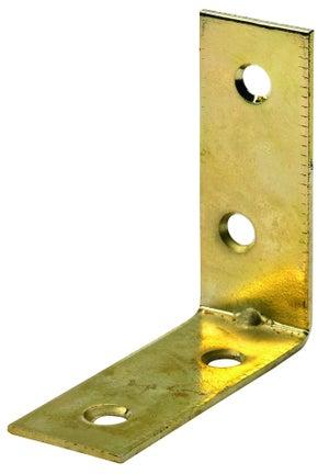 Image : 1 équerre d' assemblage acier laitonné HETTICH, l.50 mm