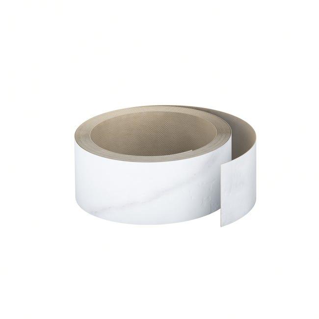 Chant De Plan De Travail Stratifie Effet Marbre Blanc Mat L 500 Ep 0 6 Mm Leroy Merlin
