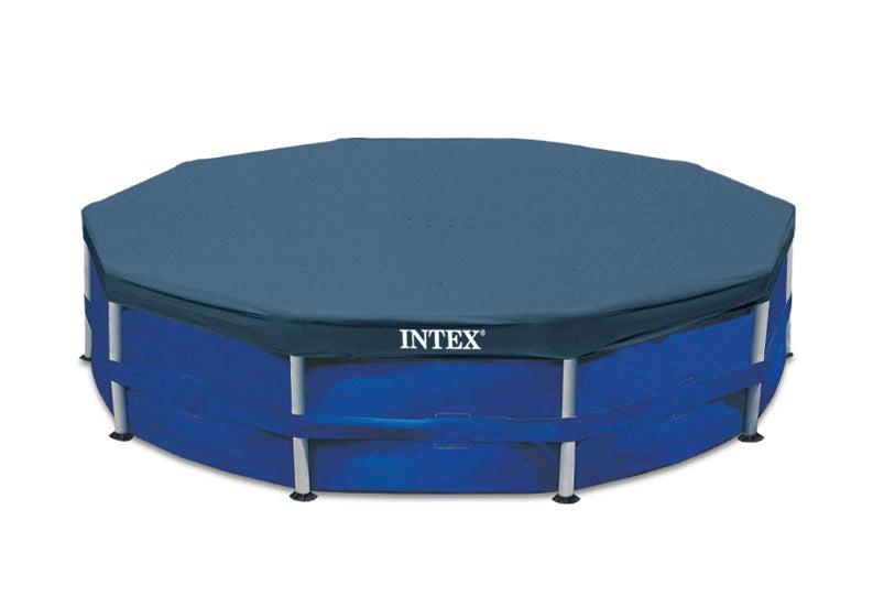 Intex Bche de protection pour Tubulaire ronde Bleu 305 x 305 x 25 cm 28030