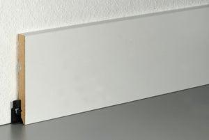 Plinthe parquet et sol stratifié décor blanc, L.220 cm x H.100