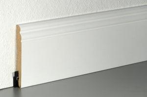 Plinthe, blanc ALSAPAN NEUHOFER, H.10 x L.2.2 m x Ep.13.5 mm