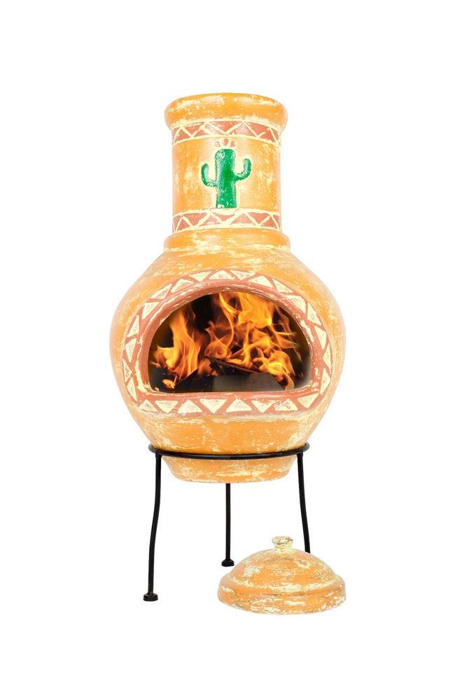 Cheminée Mexicaine Au Charbon De Bois Cardon Orange