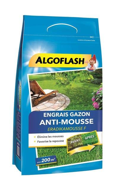 Engrais Gazon Antimousse Algoflash 6kg 200 M Leroy Merlin