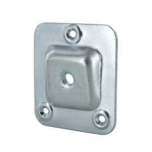 Lot de 4 platines acier à visser x H.66 mm x l.58 mm