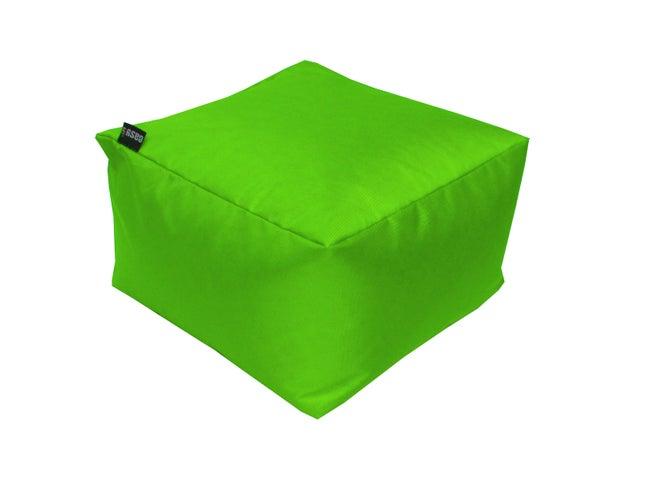 Pouf de sol vert granny Blok, L.50 x l.50 cm