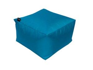 Image : Pouf de sol bleu pétrole Blok, L.50 x l.50 cm