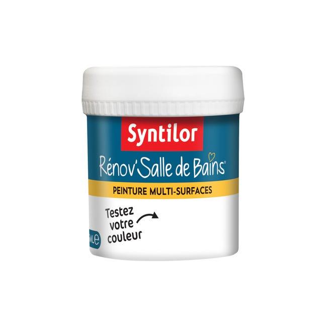 Testeur Peinture Salle De Bains Toute Surface Syntilor Blanc Satin 0 075 L Leroy Merlin