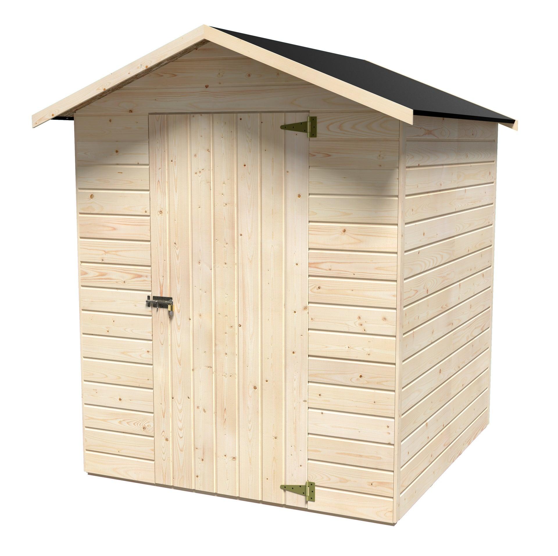 Abri de jardin bois Lisa Ep.12 mm, 2.36 m²