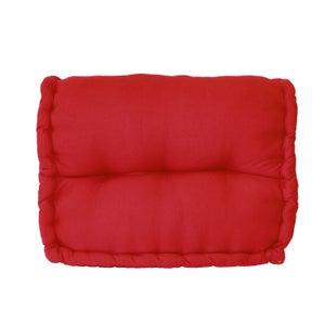 Coussin de sol, rouge l.60 x H.45 cm
