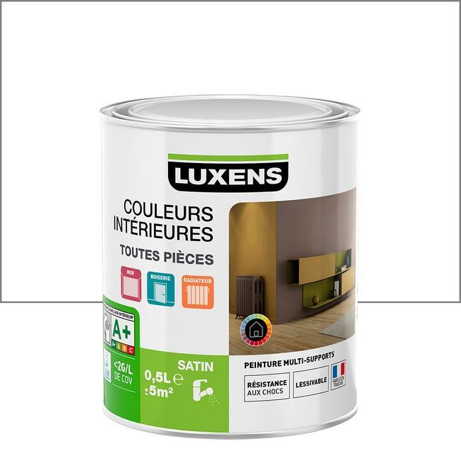 Peinture Blanc Calcaire 3 Satin Luxens Couleurs Interieures Satin 0 5 L Leroy Merlin