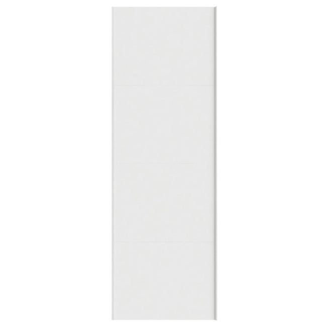 Portes Coulissantes Spaceo Home 240 X 80 X 1 6 Cm Blanc Leroy Merlin