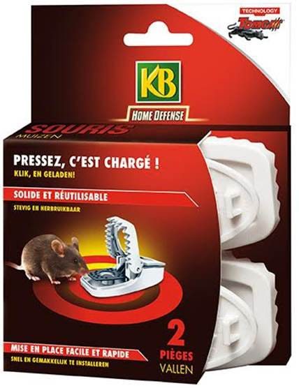 Lot De 2 Pieges Anti Souris Press N Set Leroy Merlin