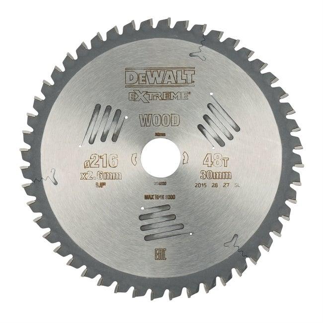 Lame De Scie Circulaire Stationnaire Dewalt 216x30mm 48 Dents