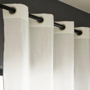 Image : Rideau tamisant, Elis, blanc et noir, l.140 x H.260 cm INSPIRE