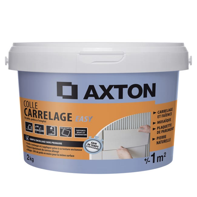 Colle Pate Axton Easy Blanc 2 Kg 1 M Leroy Merlin
