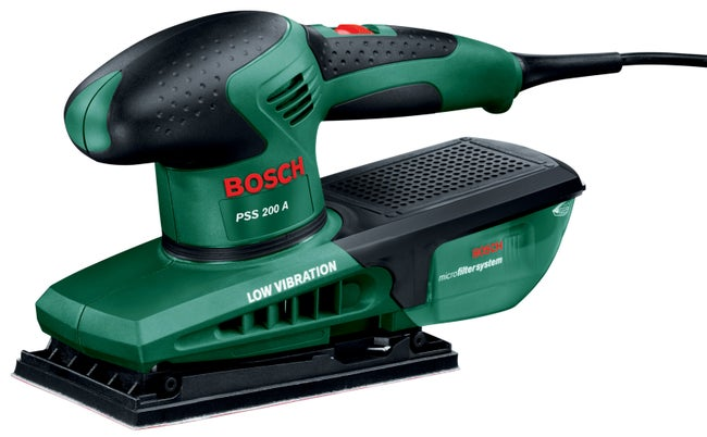 Ponceuse Vibrante Filaire Bosch Pss 200a Microfiltre 200 W