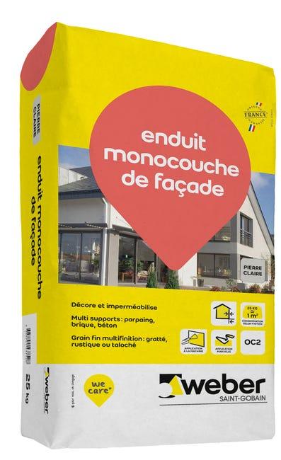 Enduit Monocouche De Facade Pierre Claire Weber 25 Kg Leroy Merlin