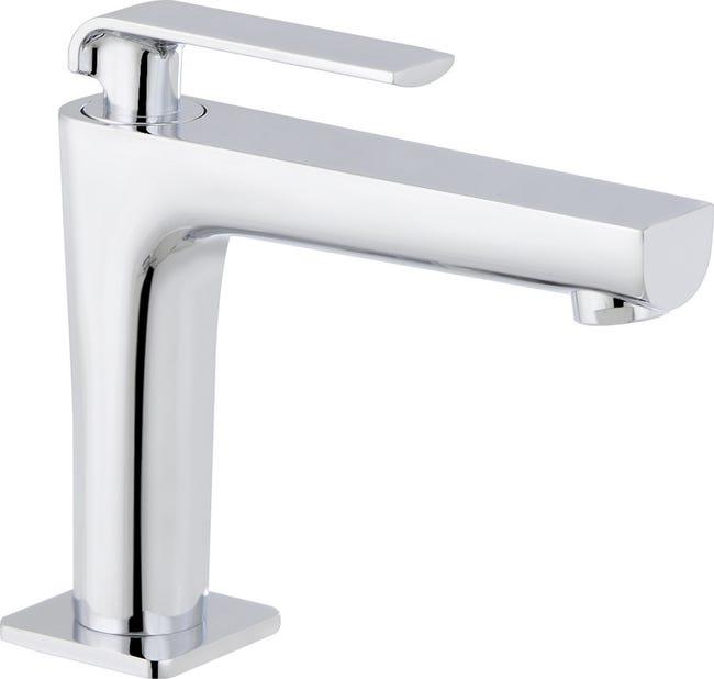 Robinet De Lave Mains Eau Froide Chrome Brillant Kramer Handwash Leroy Merlin