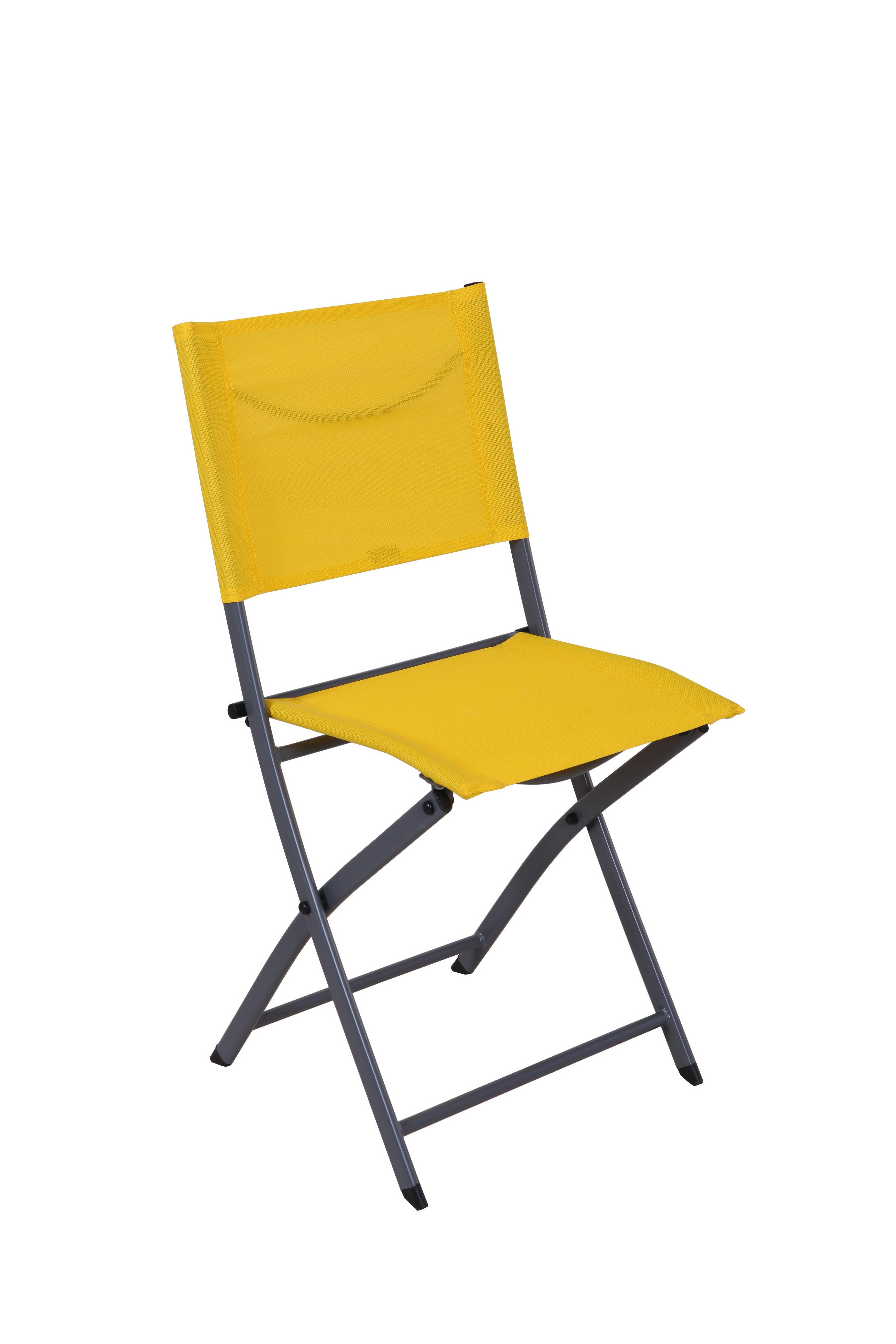 Chaise de jardin en acier Emys origami jaune