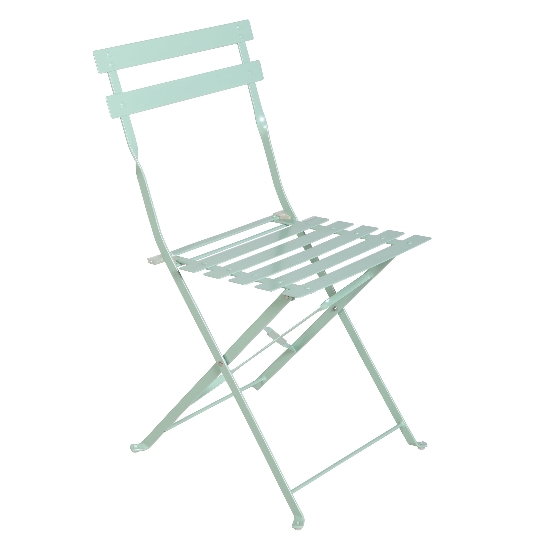 Chaise de jardin en acier Flora origami blanc