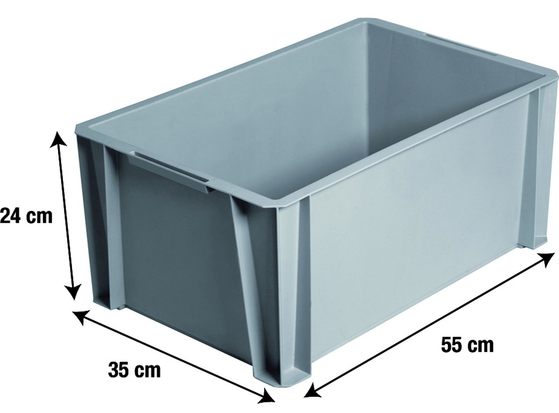 Bac De Manutention Stacking Box Plastique L55 X P35 X H245 Cm
