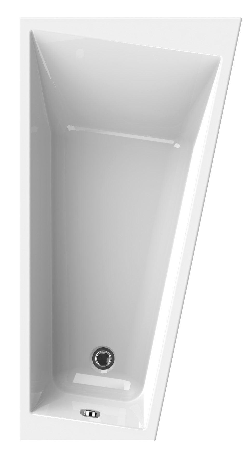 Baignoire Asymetrique Droite L 170x L 90 Cm Blanc Sensea Premium Design Leroy Merlin