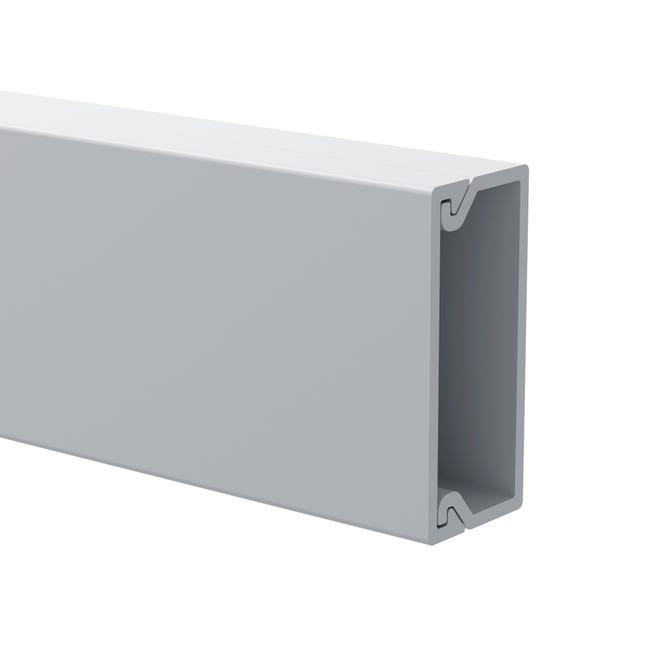 Cache Cable Blanc Pour Moulure H 1 X P 2 2 Cm Leroy Merlin