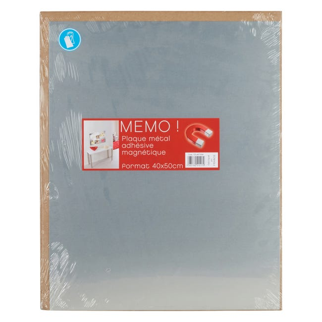 Plaque Magnetique Metal Brosse Argent L 40 X H 50 Cm Leroy Merlin