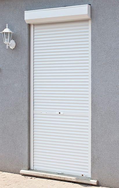 Volet Roulant Manuel Pvc Blanc Manuel A Tirage Direct H 220 X L 100 Cm Leroy Merlin