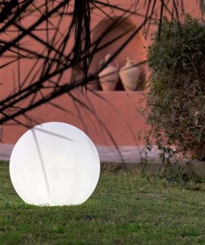 Image : Boule décorative extérieure Buly, diam 40cm, E27 25 W = 880 Lm, blanc NEWGARDEN