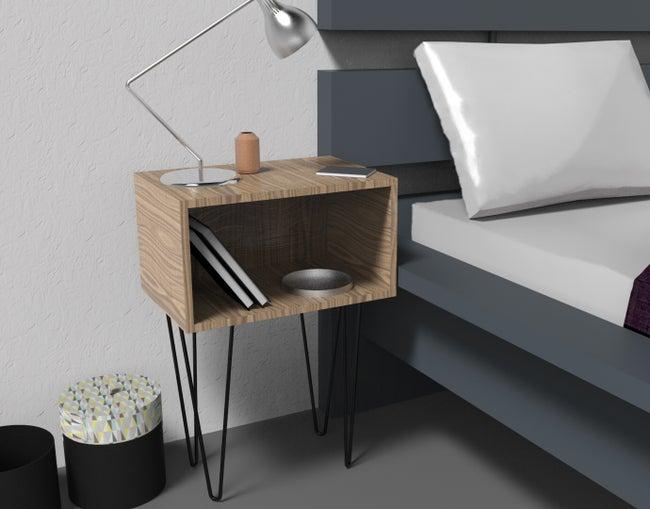 Pied De Table Basse Design Fixe Acier époxy Noir 40 Cm