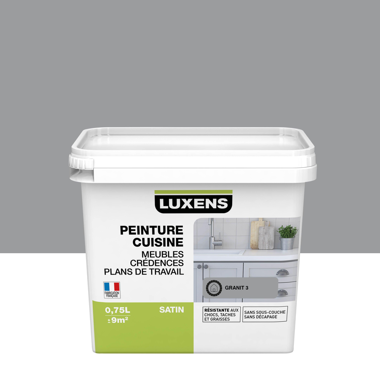 Peinture cuisine meuble et crédence LUXENS granit 12 satiné 12.12 l